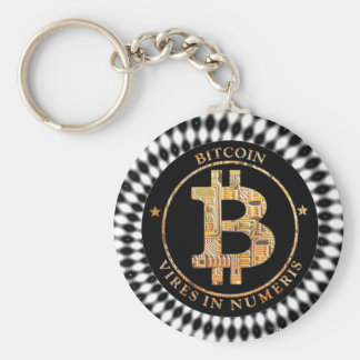 Bitcoin Gold Keychain Cryptocurrency Digital Art