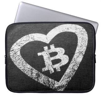 Bitcoin Heart Neoprene Laptop Sleeve 15 inch