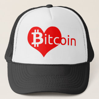 Bitcoin heart trucker hat