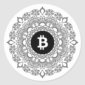 BITCOIN/HENNA-Round Sticker