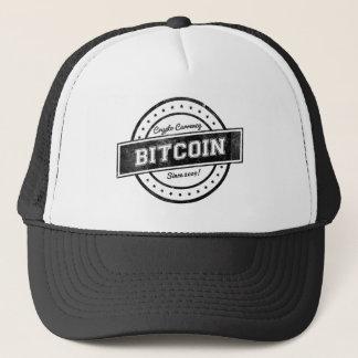 Bitcoin Label Logo Design Trucker Hat