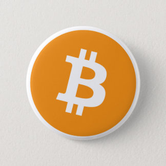Bitcoin logo 2 inch round button