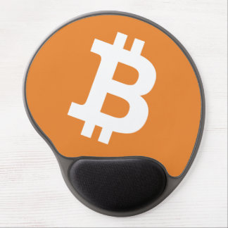 Bitcoin logo money sign computer mouse pad