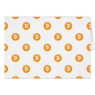 Bitcoin Logo Pattern Card