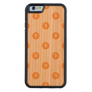 Bitcoin Logo Pattern Carved Cherry iPhone 6 Bumper Case