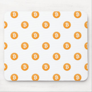 Bitcoin Logo Pattern Mouse Pad