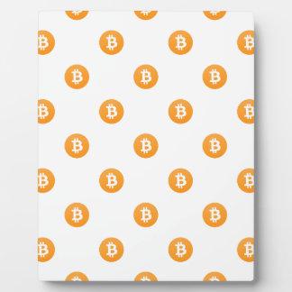 Bitcoin Logo Pattern Plaque
