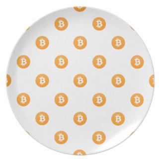 Bitcoin Logo Pattern Plate
