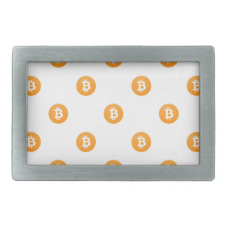 Bitcoin Logo Pattern Rectangular Belt Buckle