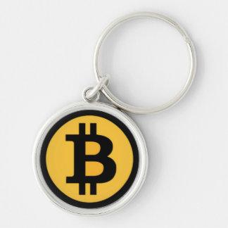 Bitcoin Logo Premium Round Keychain