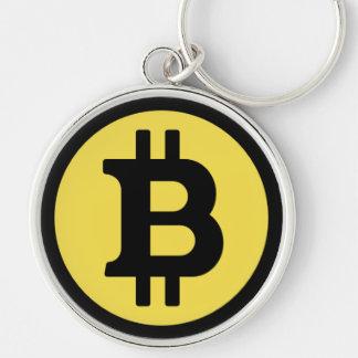 Bitcoin Logo Premium Round Large Key Chain
