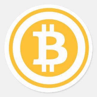 Bitcoin Logo Round Sticker