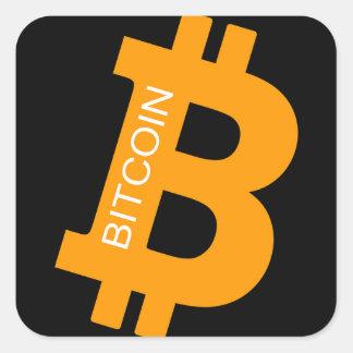 Bitcoin Logo Square Sticker