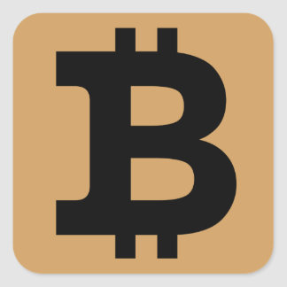 Bitcoin logo square sticker