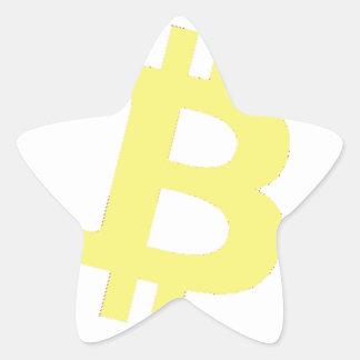 Bitcoin Logo Star Sticker