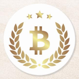 Bitcoin Logo Symbol Crest Crypto Drink Coaster