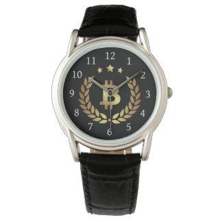 Bitcoin Logo Symbol Crypto Currency Wrist Watch