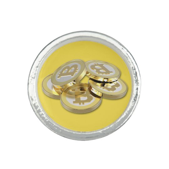 Bitcoin Logo Symbol Cryptocurrency Coins Ring