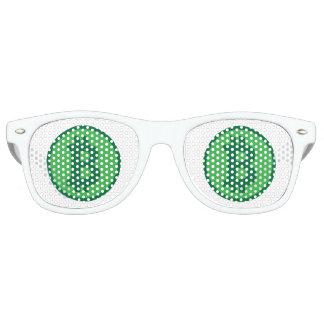 Bitcoin Logo Symbol Green Crypto Sunglasses