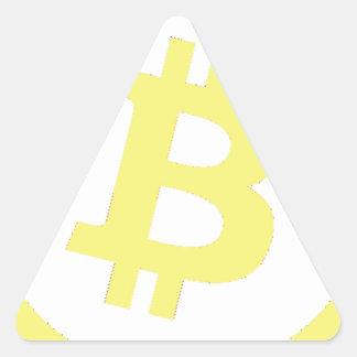 Bitcoin Logo Triangle Sticker