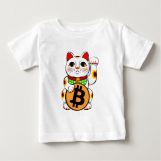 Bitcoin Maneki Neko Lucky Cat 01 Baby T-Shirt