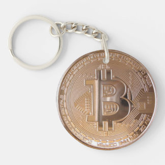 Bitcoin metallic made of to copper. M1 Keychain