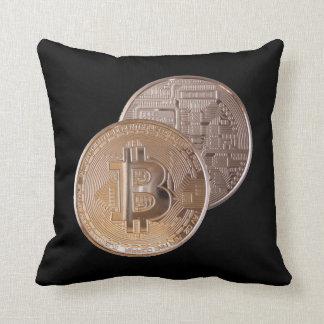 Bitcoin metallic made of to copper. M1 Throw Pillow