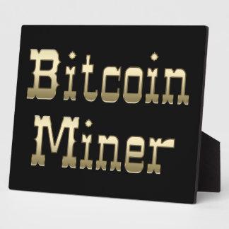 Bitcoin Miner (On Black) Plaque