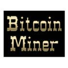Bitcoin Miner (On Black) Postcard