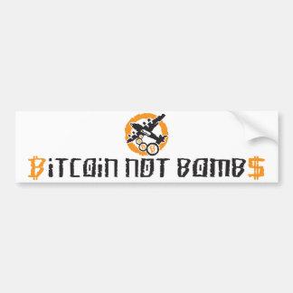 Bitcoin Not Bombs Graffiti - Bumper Sticker