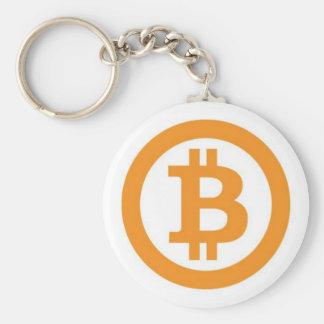 Bitcoin Official Logo Button Keychain