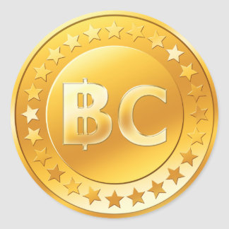 Bitcoin (pack of 6/20) classic round sticker