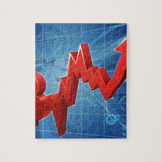Bitcoin Performance Graph Concept Jigsaw Puzzle