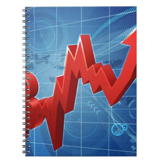 Bitcoin Performance Graph Concept Spiral Notebook