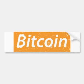 Bitcoin Rectangle Bumper Sticker