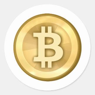 Bitcoin Round Sticker