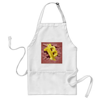 Bitcoin Sign Breaking Through Wall Concept Standard Apron