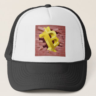 Bitcoin Sign Breaking Through Wall Concept Trucker Hat