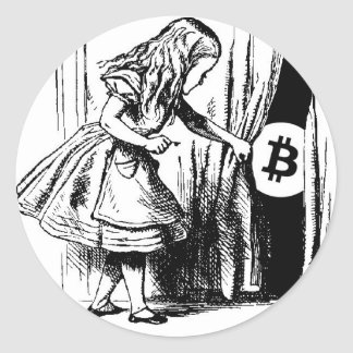 Bitcoin Sticker Alice in Wonderland