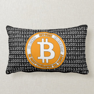 Bitcoin Style Pillow with binary code - M1