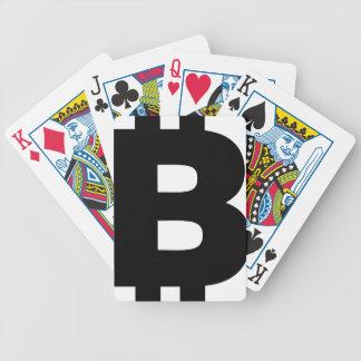 Bitcoin Symbol Bicycle Playing Cards
