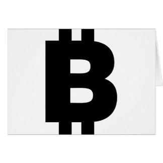 Bitcoin Symbol Card