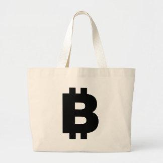 Bitcoin Symbol Large Tote Bag
