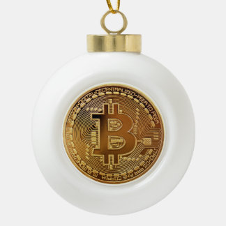 Bitcoin Symbol Logo Graph Christmas Bell Ornament