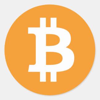 Bitcoin Symbol - Online Digital Currecny Classic Round Sticker