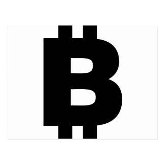 Bitcoin Symbol Postcard