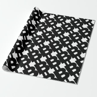 Bitcoin Symbol Wrapping Paper