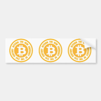 Bitcoin The New Currency Of The 21st Century Bumper Sticker