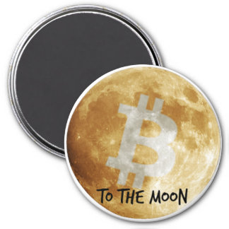 Bitcoin to the Moon Fridge Magnet