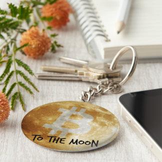 Bitcoin To the Moon Keychain